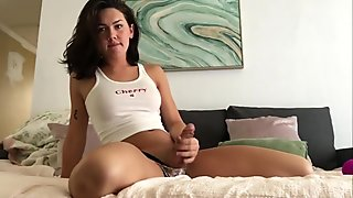 Cute Creamy TGirl plays with Her New Toy - Daisy Taylor