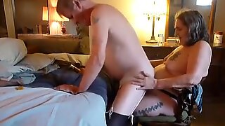 fucking whore husbands man pussy ass and making him ride me