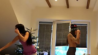 Leon`s Angels at home, Transparent Leggings from my own phone camera